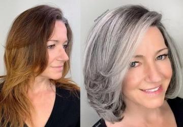Як підібрати фарбу для сивого волосся